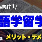 語学留学のメリット・デメリット10選【徹底解説】