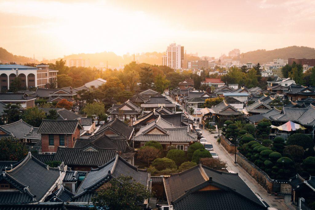 韓国の街の風景