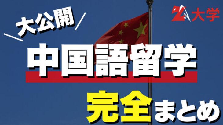 【大公開】中国語留学の全貌を徹底解説!【実際辛いの?】