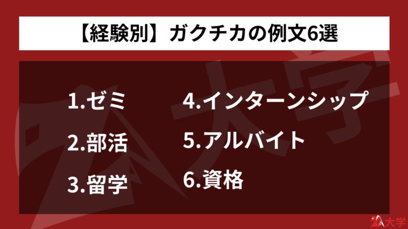 【経験別】ガクチカの例文6選
