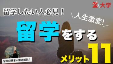 【徹底解説】留学のメリット・デメリット18選!